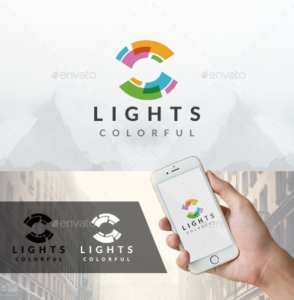 Lights Colors Logo - Vector Abstract