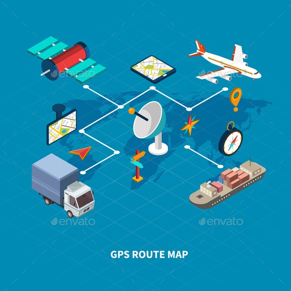 GPS Route Map Flowchart - Industries Business