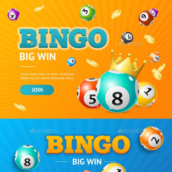 Realistic Detailed 3d Lotto Concept Bingo Big Win Card Background. Vector
