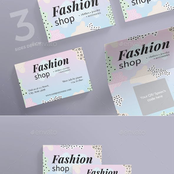 Fashion Shop Business Card by ambergraphics