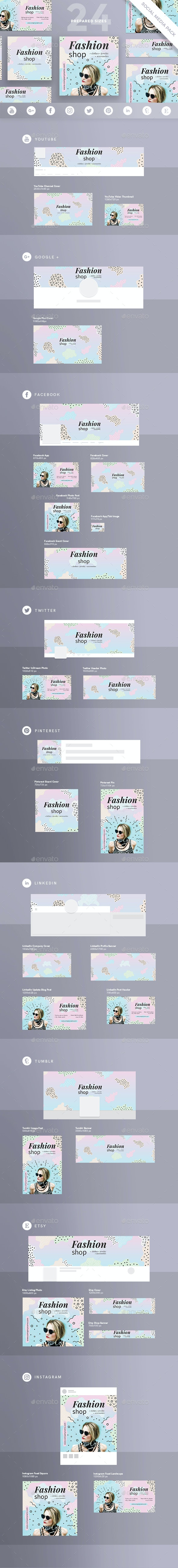 Fashion Shop Social Media Pack - Miscellaneous Social Media