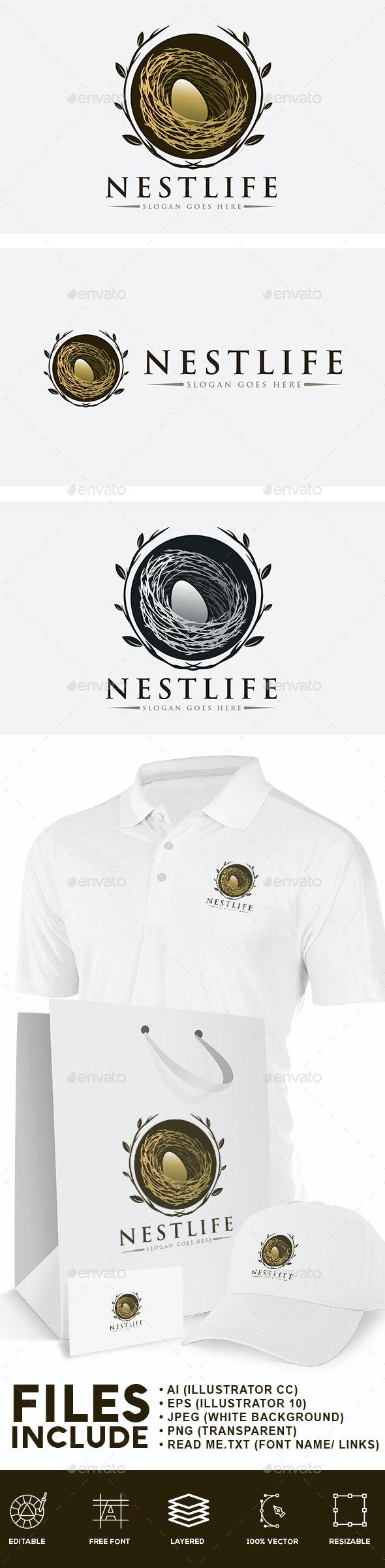 Bird Nest Logo - Nature Logo Templates