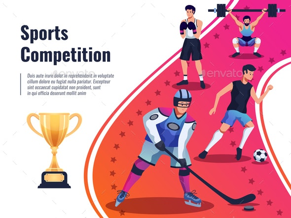 Sports Competition Background - Patterns Decorative