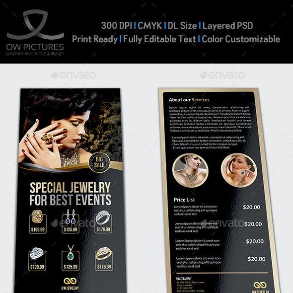 Jewelry Flyer Templates DL Size Vol2