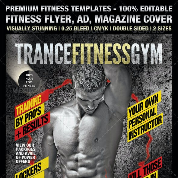 TranceFitness Flyer, AD or Magazine Cover Template