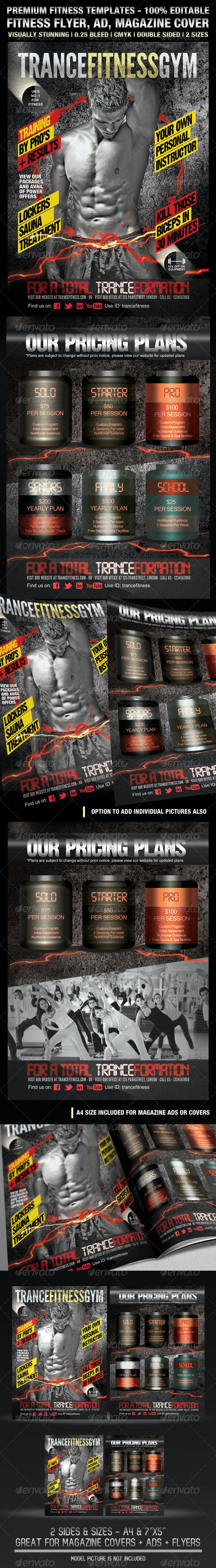 TranceFitness Flyer, AD or Magazine Cover Template - Sports Events