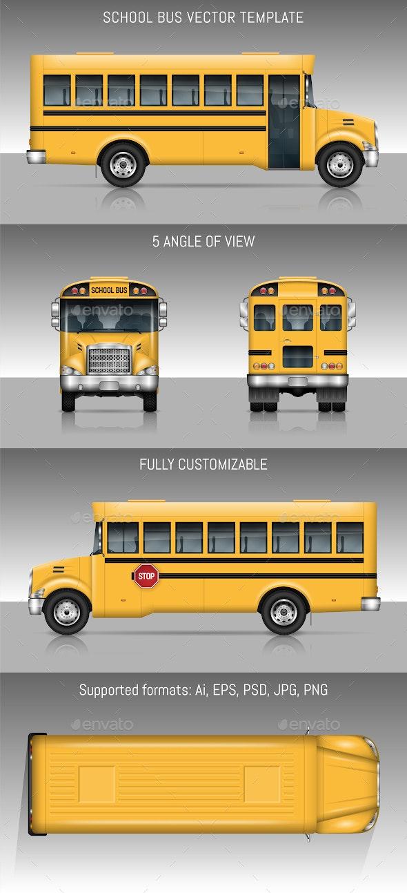 School Bus - Man-made Objects Objects