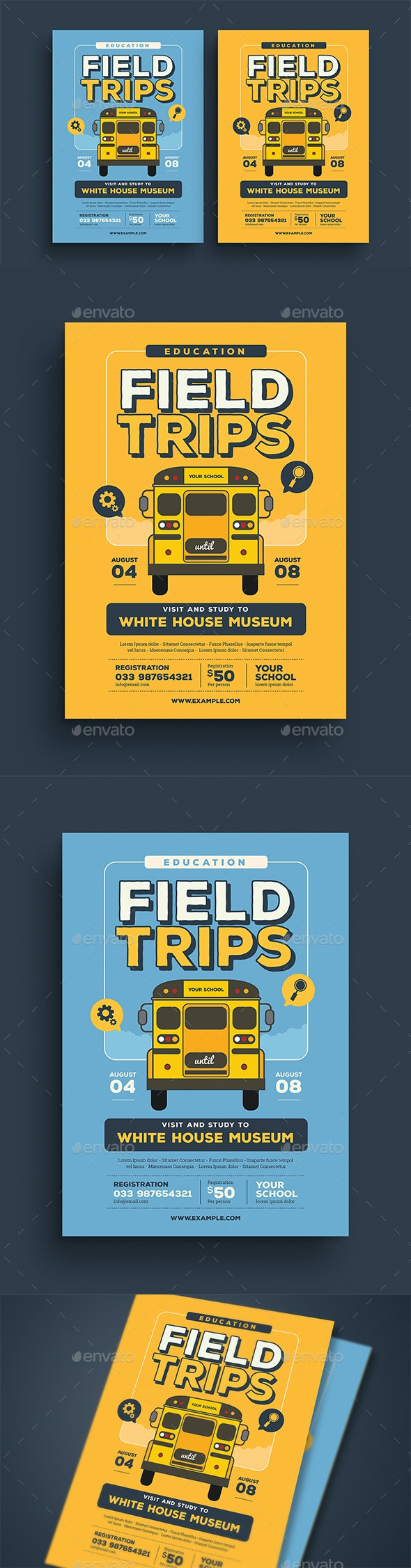 Field Trip Event Flyer - Flyers Print Templates