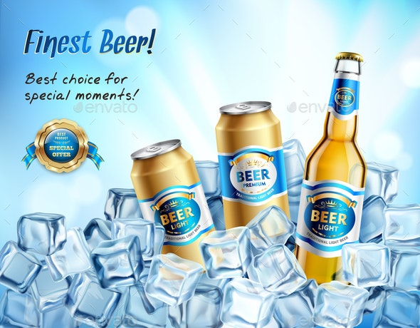 Finest Beer Composition - Backgrounds Decorative