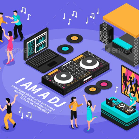 Dj And Music Illustration