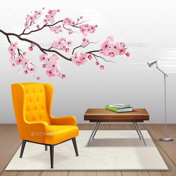 Sakura Interior Composition - Flowers & Plants Nature