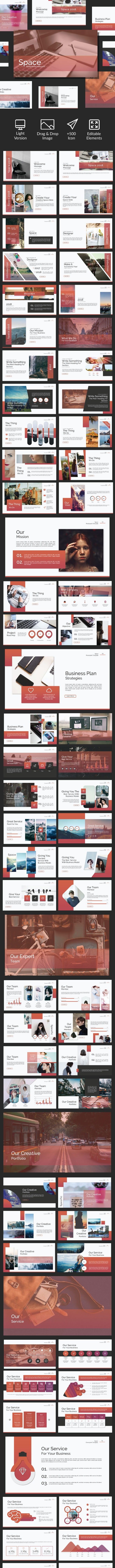 Space - Keynote Template - Business PowerPoint Templates
