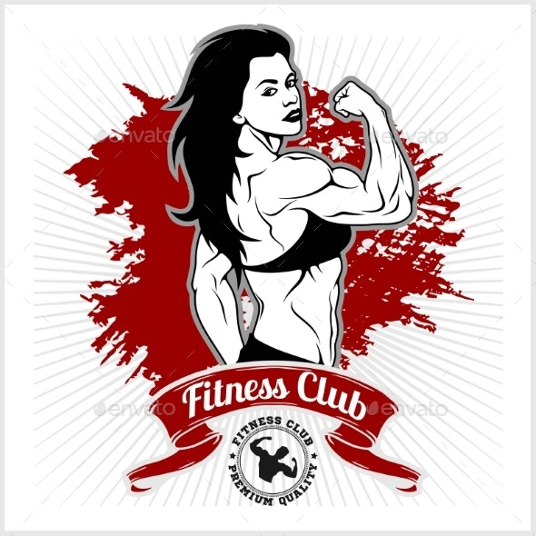 Girl in Sportswear Fitness Lifestyle - Miscellaneous Vectors
