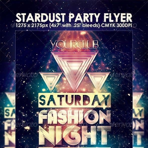 Stardust Night Club Party Flyer