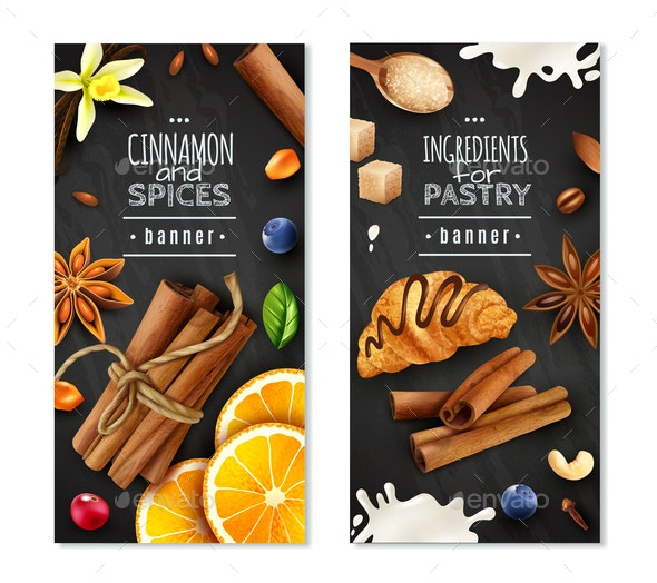Cinnamon With Spices Vertical Banners - Food Objects