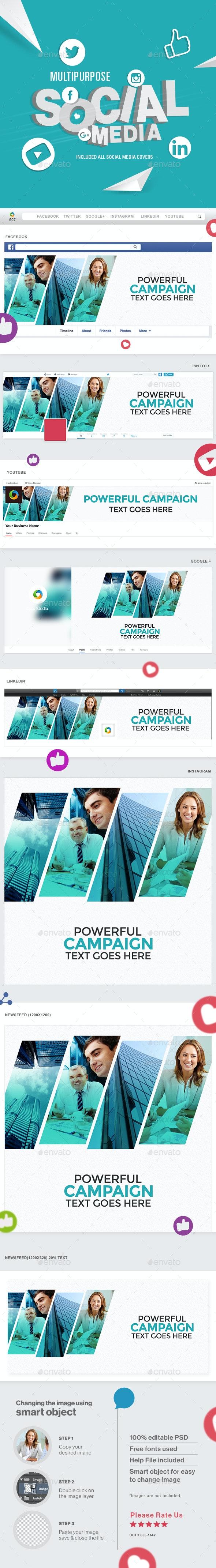 Multipurpose Social Media Pack - Miscellaneous Social Media