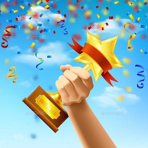 Award of Winner Realistic Illustration - Backgrounds Decorative