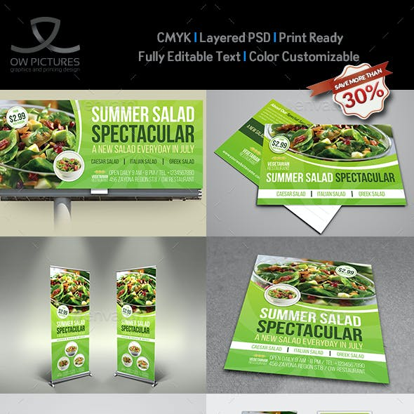 Salad Restaurant Advertising Bundle