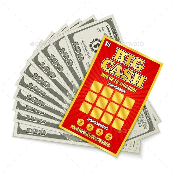 Lottery Cash Win - Miscellaneous Vectors