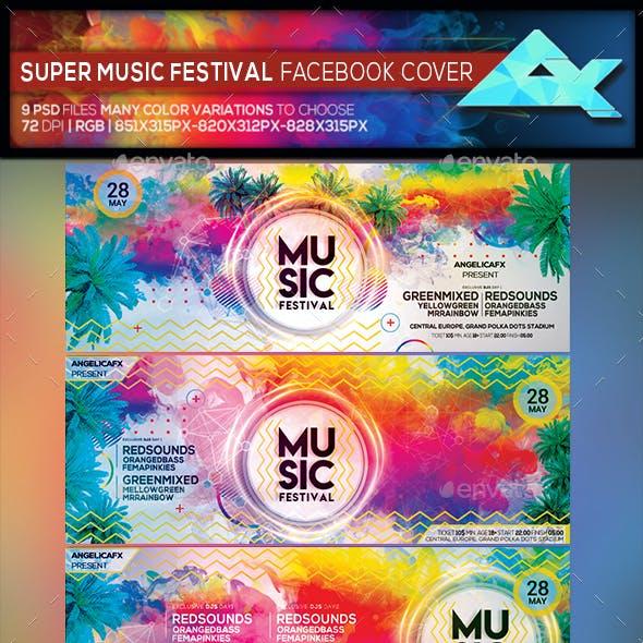 Super Music Festival Facebook Cover