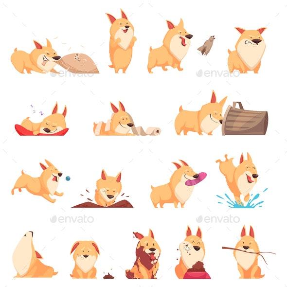 Cartoon Puppy Set - Animals Characters