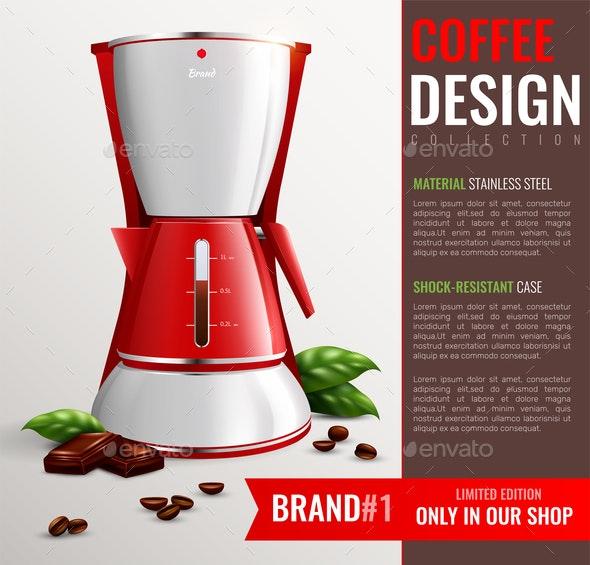 Household Kitchen Appliances Poster - Patterns Decorative