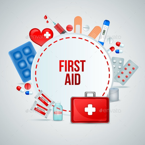 First Aid Realistic Composition - Health/Medicine Conceptual