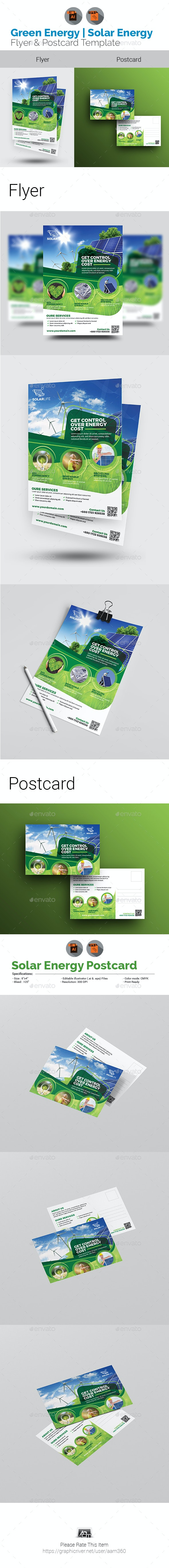 Solar Energy Flyer & Postcard Bundle - Corporate Flyers