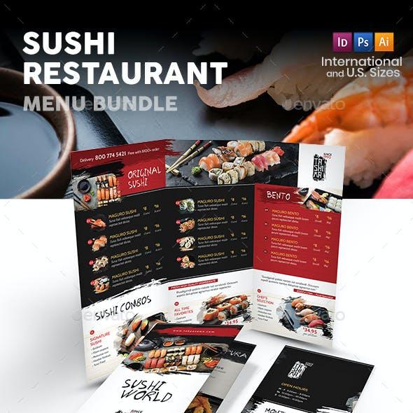 Sushi Restaurant Print Bundle 3