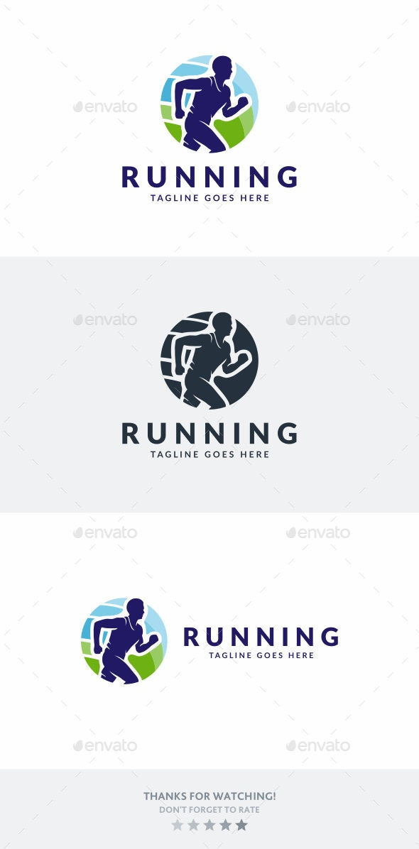 Fitness Running - Humans Logo Templates