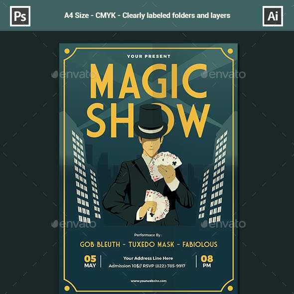 Magic Show Flyer / Poster Template