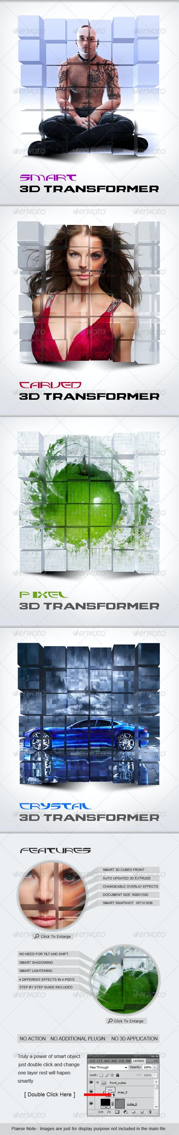 Smart 3D Transformer - Photo Templates Graphics