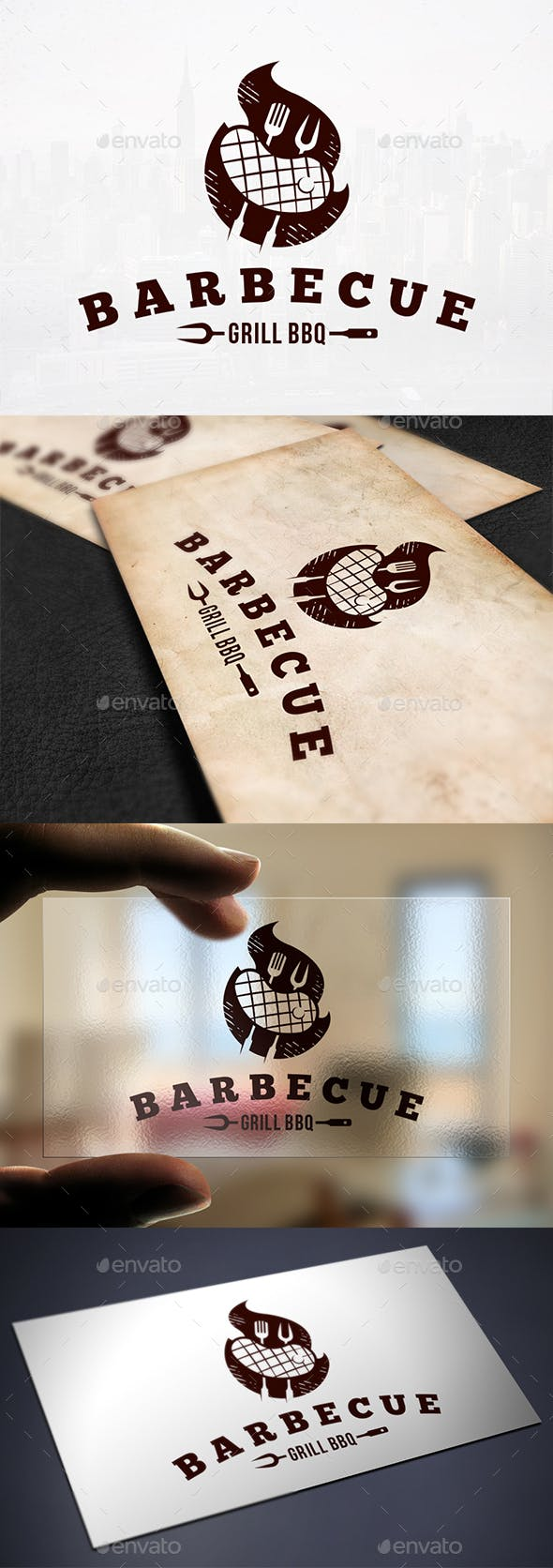 Grill Meat Logo Template