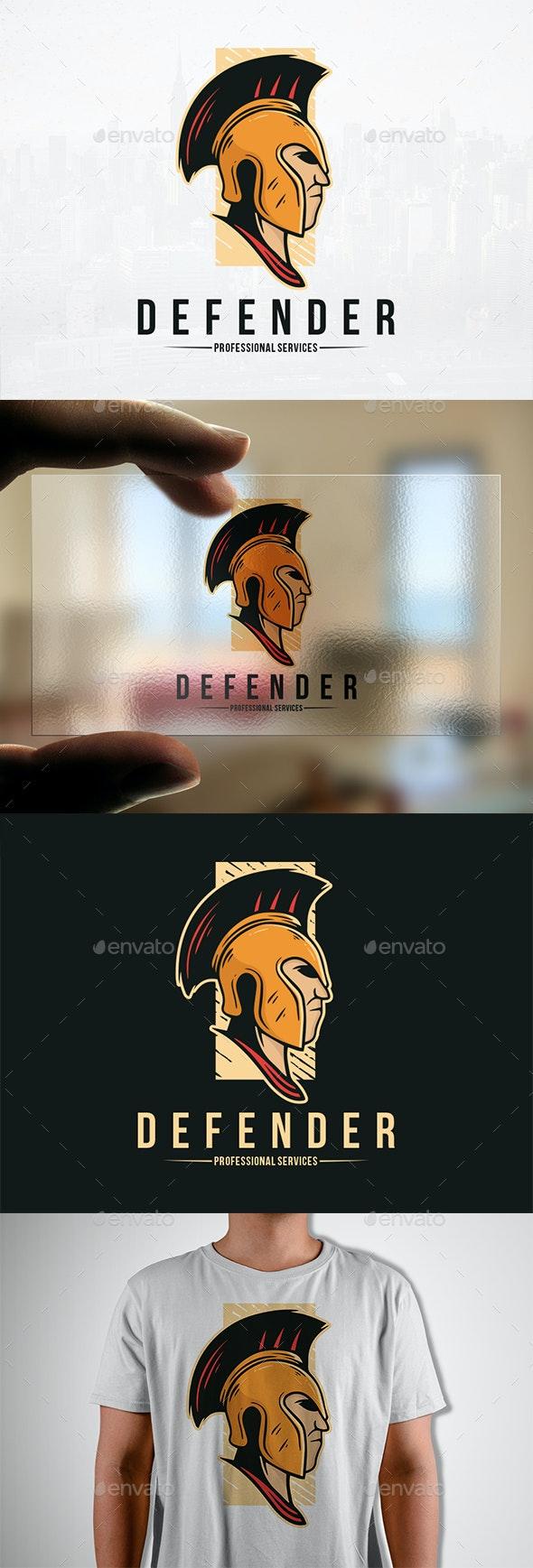 Warrior Defender Logo Template - Humans Logo Templates