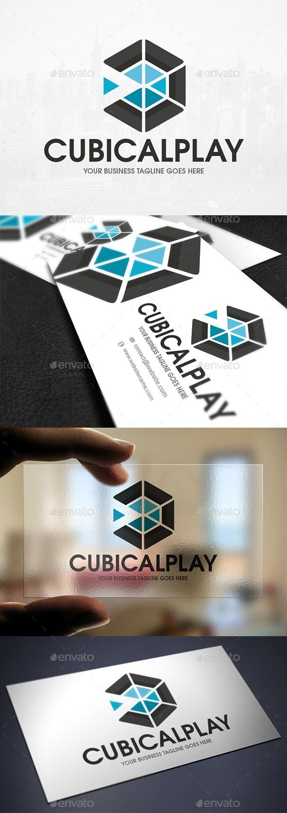 Hexa Player Logo Template - Vector Abstract