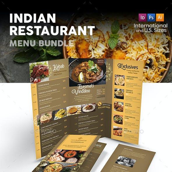 Indian Restaurant Menu Print Bundle 2