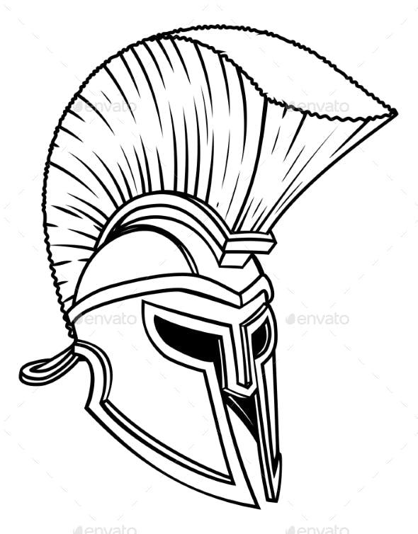 Ancient Greek Spartan Helmet By Krisdog Graphicriver