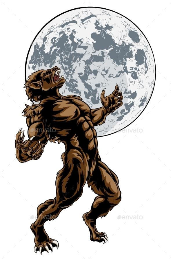 Wolf Man Werewolf Horror Monster - Halloween Seasons/Holidays