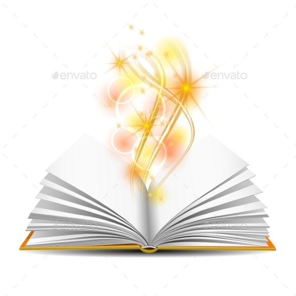Open Book with Magic Light - Miscellaneous Vectors