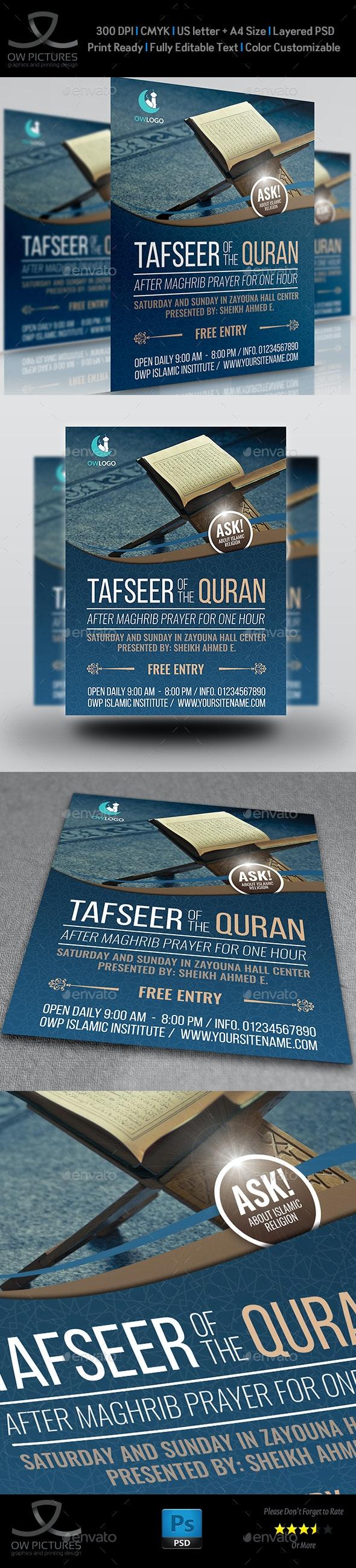 Islamic Flyer Template Vol.3 - Flyers Print Templates