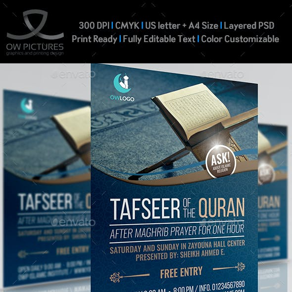 Islamic Flyer Template Vol.3