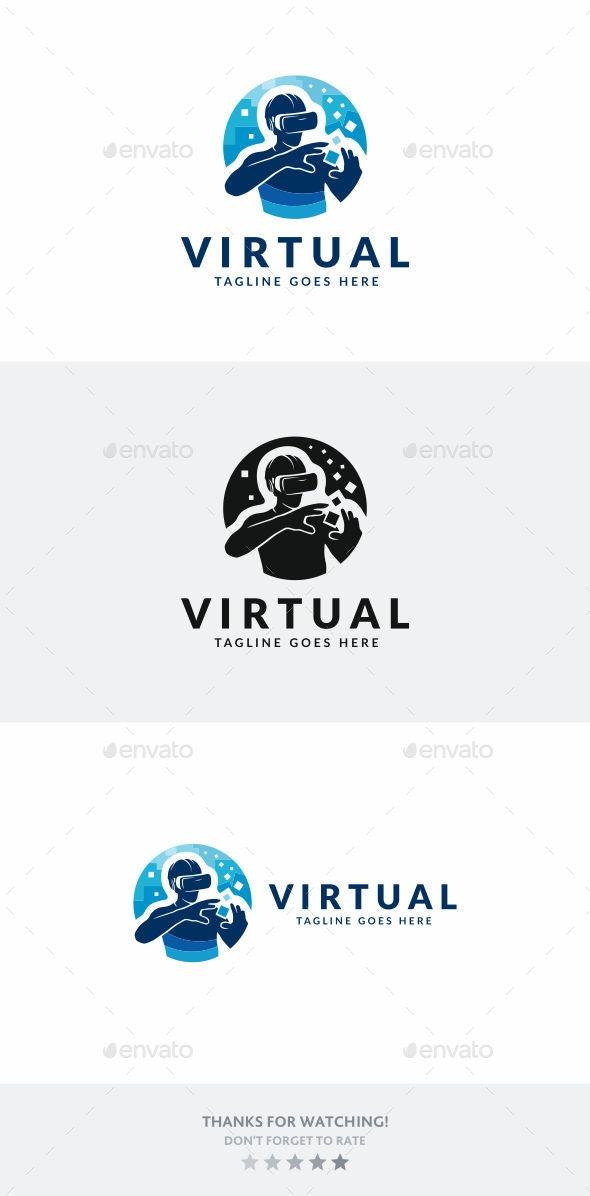 Virtual Reality - Humans Logo Templates