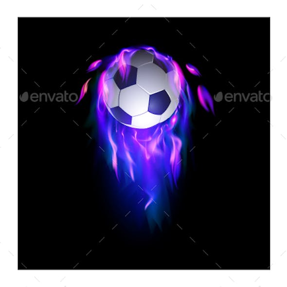 Ball with Purple Blue Fire
