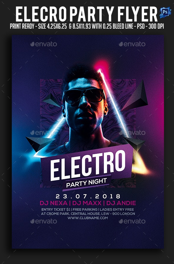 Elecro Party Flyer - Clubs & Parties Events