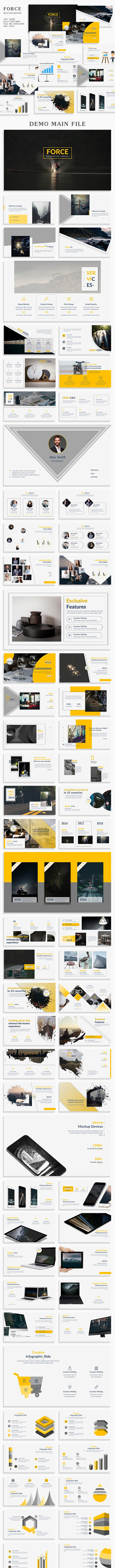 Force Multipurpose PowerPoint Template - Creative PowerPoint Templates