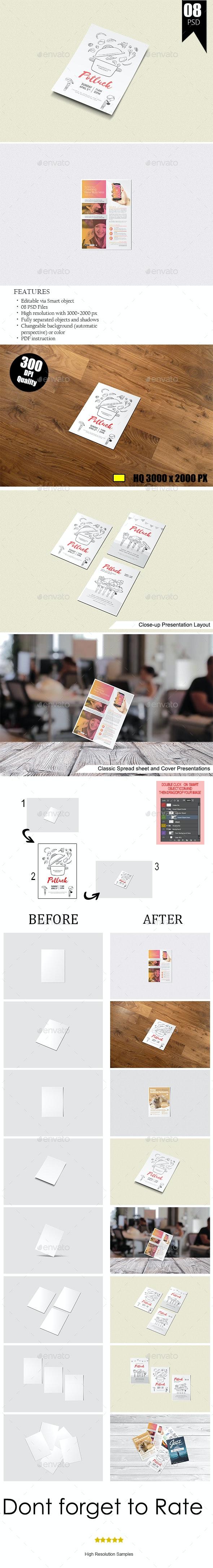 A5 Flyer / Poster Mock-Ups - Flyers Print