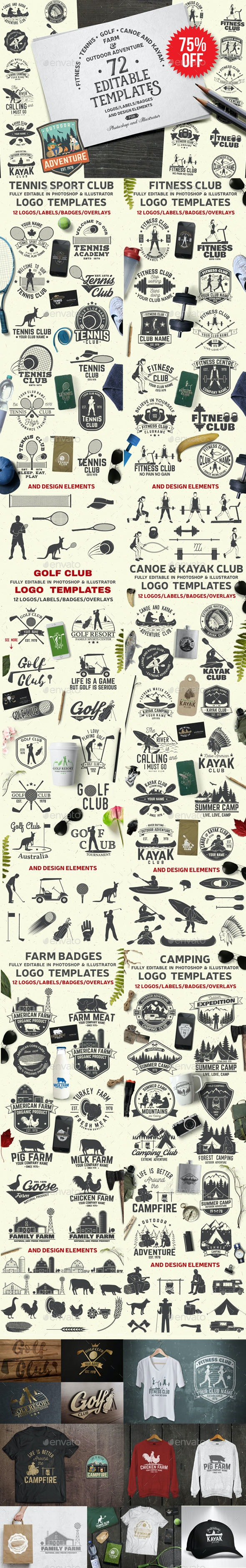 72 Badge Graphics in One Bundle Part.2 - Badges & Stickers Web Elements
