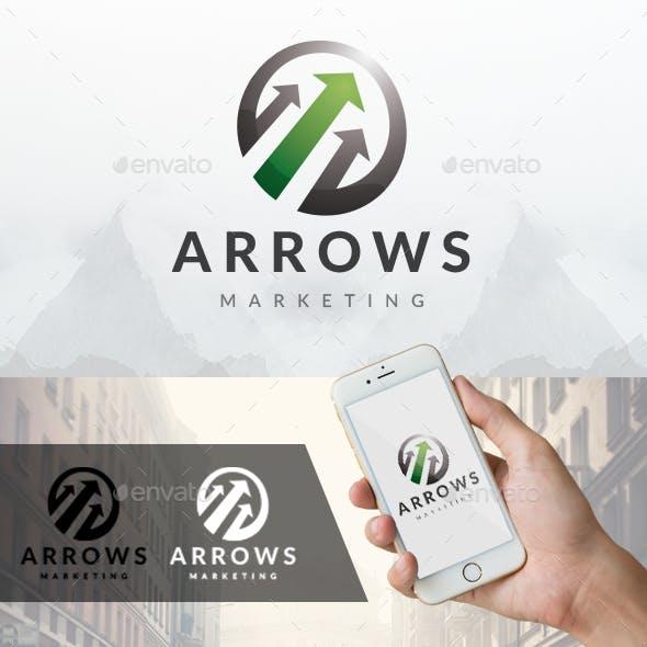 Arrows Ball Logo Template