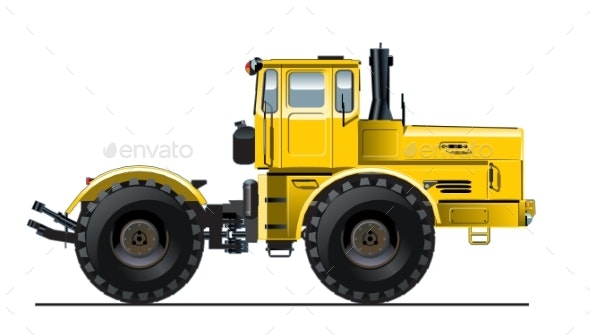 Vector Detailed Tractor - Industries Business