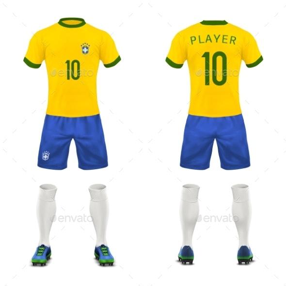 Vector Realistic Uniform of Football - Sports/Activity Conceptual